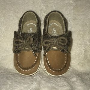 Brand new! Baby girl sparkly leopard sperrys